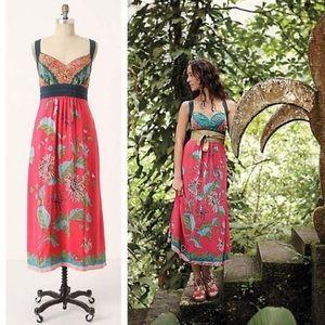 NWT RARE Anthropologie Equinox Calling Pink Dress